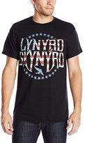FEA Men's Lynyrd Skynyrd Stripes and Stars Vintaged Logo T-Shirt