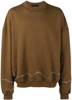 Haider Ackermann Brown Perth embroidered Oversized sweatshirt - men - Cotton - S