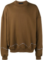 Haider Ackermann Brown Perth embroidered Oversized sweatshirt