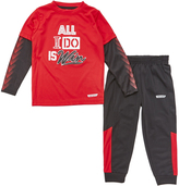Red Heat 'All I Do is Win' Layered Tee & Pants - Toddler