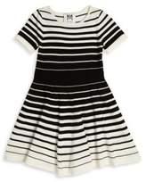 Milly Minis Girl's Degradé Stripe Flare Dress