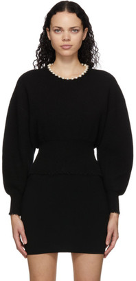 Alexander Wang Black Pearl Necklace Sweater