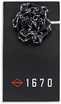 1670 Skull Flower Lapel Pin