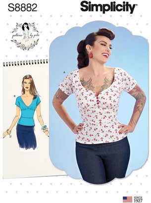 Simplicity Women's Tops Sewing Pattern, 8882