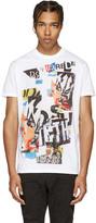 DSQUARED2 White & Multicolor Logo T-Shirt