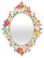 DENY Designs Decorative Wall Mirror Bella White