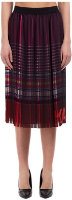 Karl Lagerfeld Paris Striped Pleated Skirt