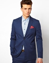 Peter Werth Suit Jacket In Navy - Blue