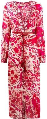 Twin-Set Ruffled Floral-Print Shirt Dress