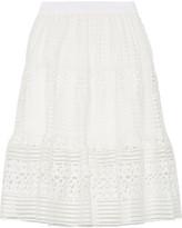 Diane von Furstenberg Tiana Guipure Lace Skirt - White