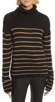 A.L.C. Women's Elisa Metallic Stripe Turtleneck Sweater