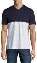 Brunello Cucinelli Colorblock V-Neck T-Shirt