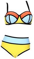 Deercon Women Plus size Push-up Bikini Triangle Swimwear Swimsuit( 5XL)