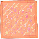 Hermes Au Clair de la Mer Mousseline Pocket Square