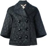 Burberry button up puffer jacket - women - Polyester/Cotton - M