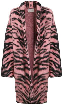 Laneus tiger print coat