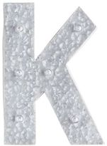 Pier 1 Imports LED Galvanized Metal Monogram Letter - K