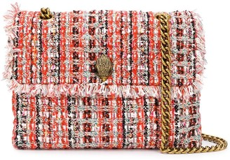 Kurt Geiger Tweed-Effect Shoulder Bag