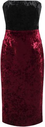 Black Halo Eve By Laurel Berman Rumor Strapless Two-tone Crushed-velvet Dress
