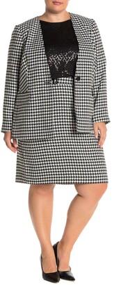 Calvin Klein Knee Length Houndstooth Skirt
