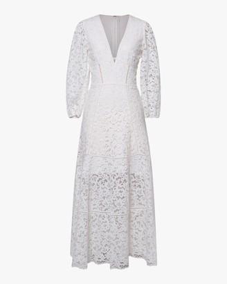 Jonathan Simkhai Lara Puff-Sleeve Midi Dress