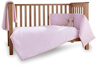 Clair De Lune Dimple 3 Piece Cot/Cot Bed Quilt & Bumper Bedding Set
