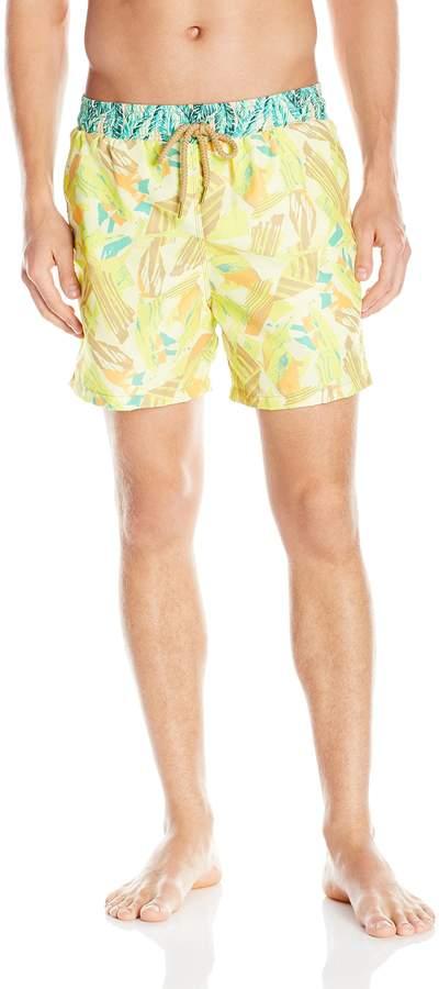 Maaji Men's Lemon Brushstroke Swim Trunk