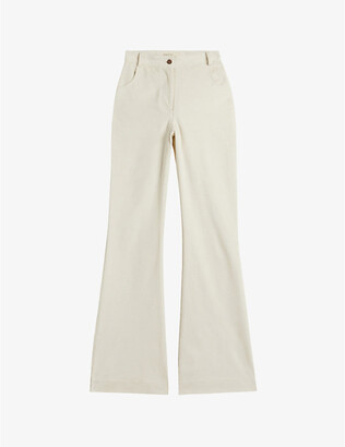 Ted Baker Creame flared high-rise stretch-cotton corduroy jeans
