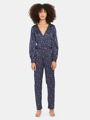Tanya Taylor Ainsley Silk Surplice Jumpsuit