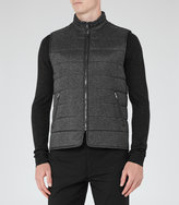 Reiss Reiss Mortimer - Quilted Gilet In Black