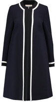 Goat Danube Two-Tone Wool-Crepe Coat