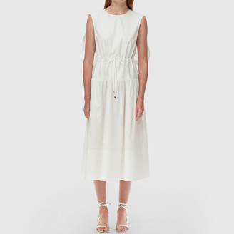 Tibi Eco Poplin Cape Dress