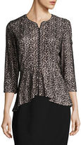 Alex Evenings Patterned Lace Dress Jacket