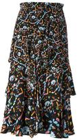 Peter Pilotto floral print ruffled skirt - women - Silk - 10