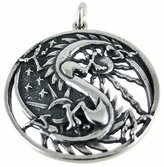 Cascade Sterling Sterling Silver Dragon Yin / Yang Pendant