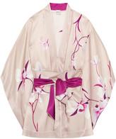 Carine Gilson Floral-print Silk-satin Kimono - Blush