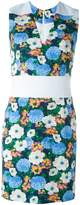 Carven fitted floral dress