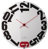 "Oliver Hemming Wall Clock with Bold Sideways Number Dial (141⁄2"")"