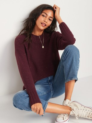 Old Navy Oversized Cozy Textured Crew-Neck Sweater for Women