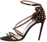 Alaia Studded Ankle-Strap Sandals