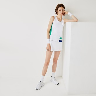 Lacoste Women's SPORT Colourblock Stretch Tennis Tank Top