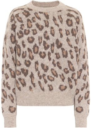 A.P.C. Esther leopard-print alpaca-blend sweater