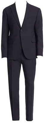 Emporio Armani M Line Navy Stretch Wool Suit