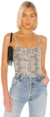 ATM Anthony Thomas Melillo Snake Print Pima Cotton Bodysuit