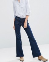 Vila Front Pocket Mini Flare Jeans