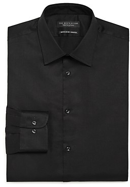 The Men's Store At Bloomingdale's The Men's Store Solid Stretch Regular Fit Dress Shirt