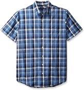 Arrow Men's Big-Tall Short Sleeve Sea Jack Seersucker Shirt
