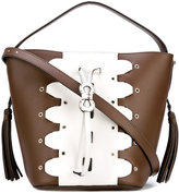 Furla eyelet detail bucket bag - women - Calf Leather - One Size