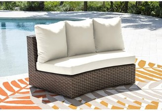 Panama Jack Big Sur Loveseat with Cushions Outdoor Cushion Color: Canvas Tuscan