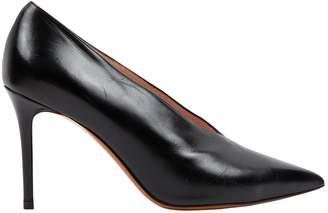 Celine Soft V Neck Black Leather Heels